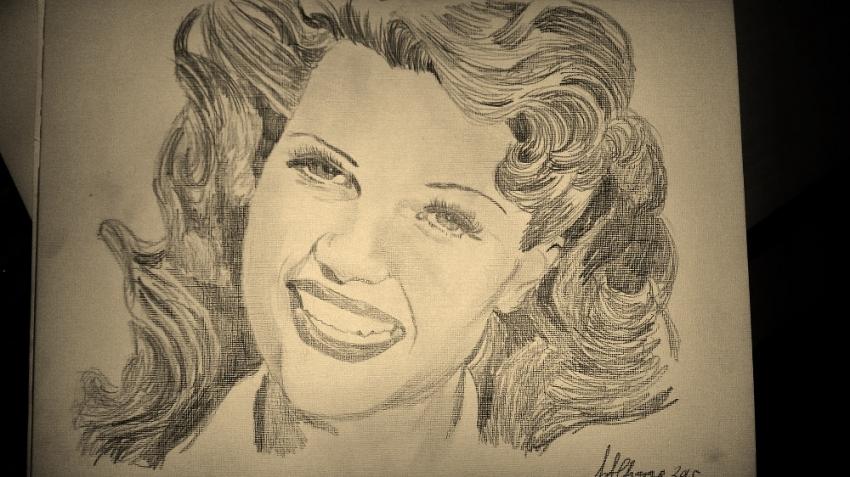 Rita Hayworth by Lindasart